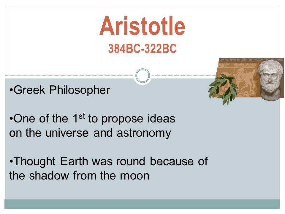 Aristotle 384BC-322BC Greek Philosopher