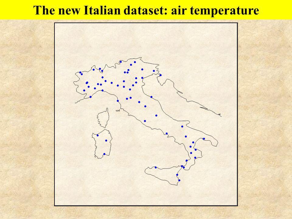 The new Italian dataset: air temperature