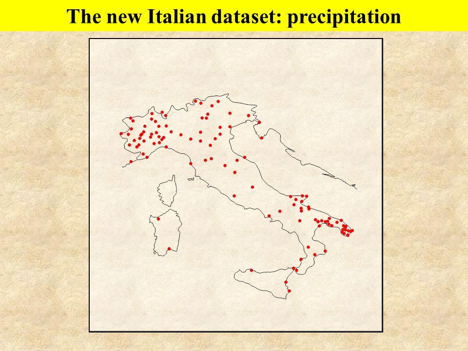 The new Italian dataset: precipitation