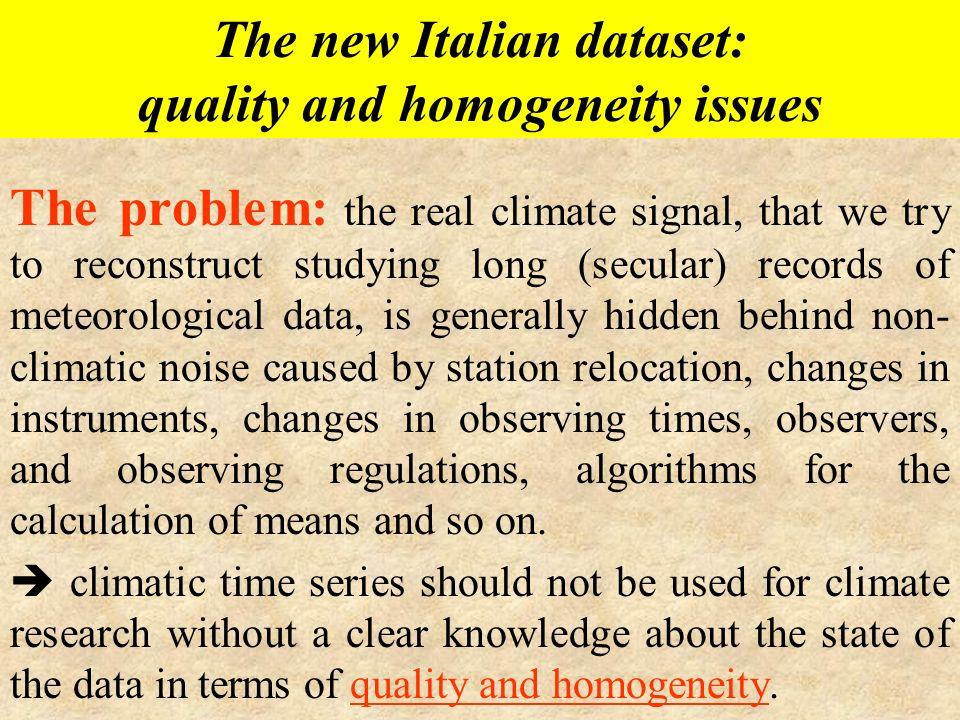 The new Italian dataset: