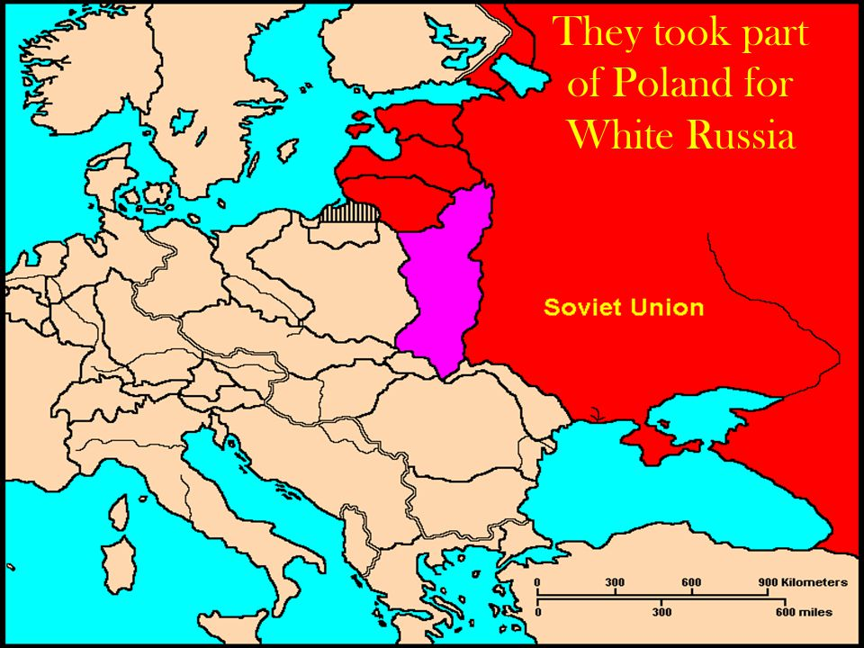 They took part of Poland for White Russia
