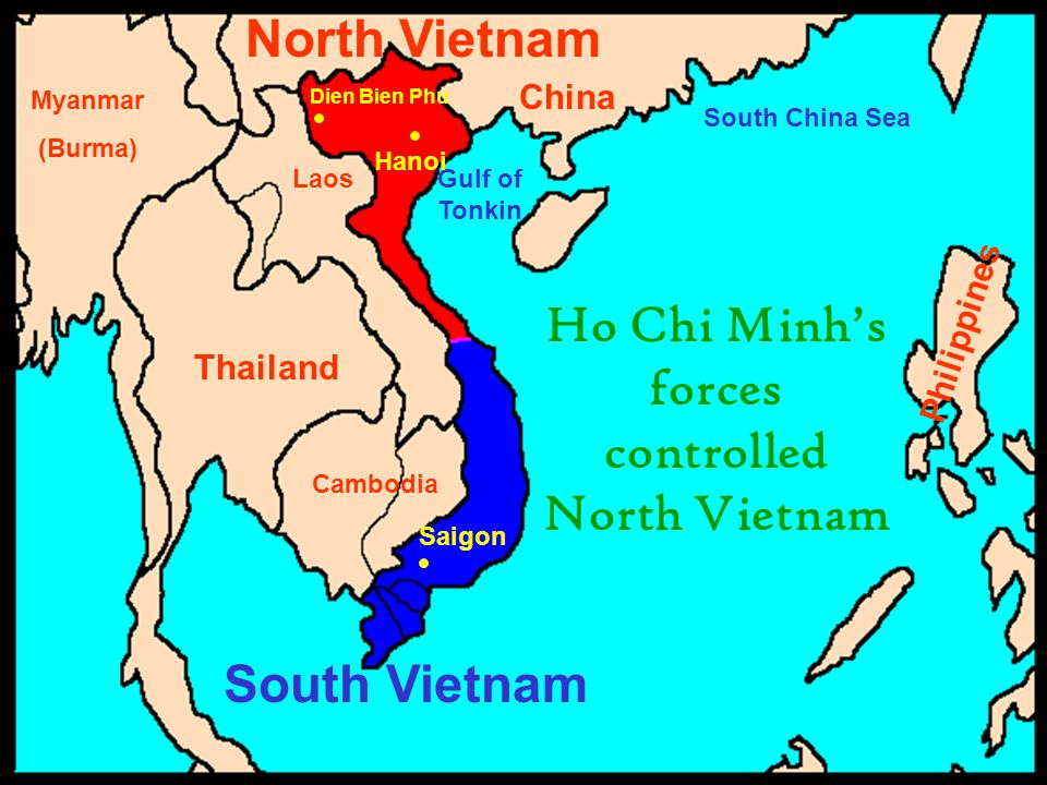 Ho Chi Minh's forces controlled North Vietnam