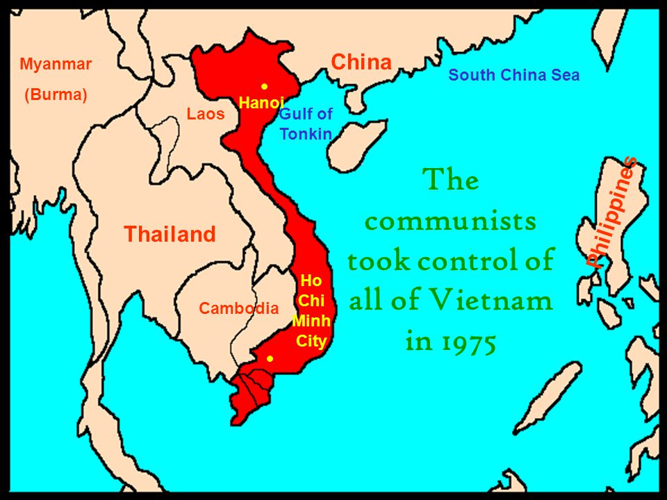 The communists took control of all of Vietnam in 1975