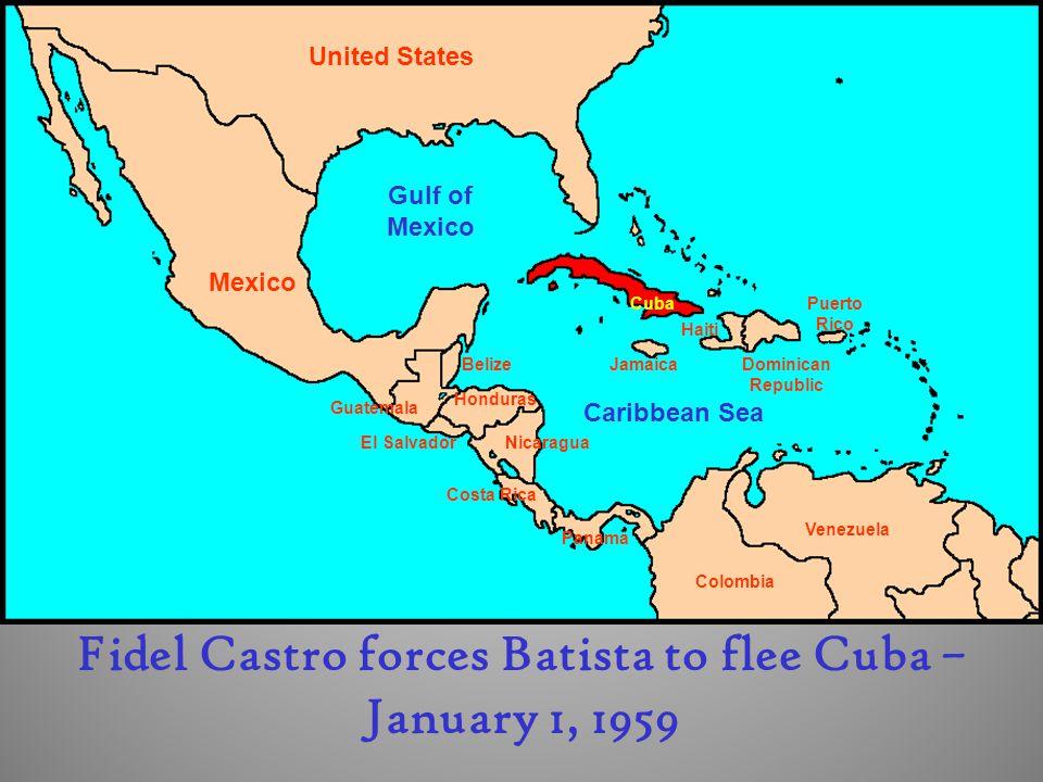 Fidel Castro forces Batista to flee Cuba – January 1, 1959
