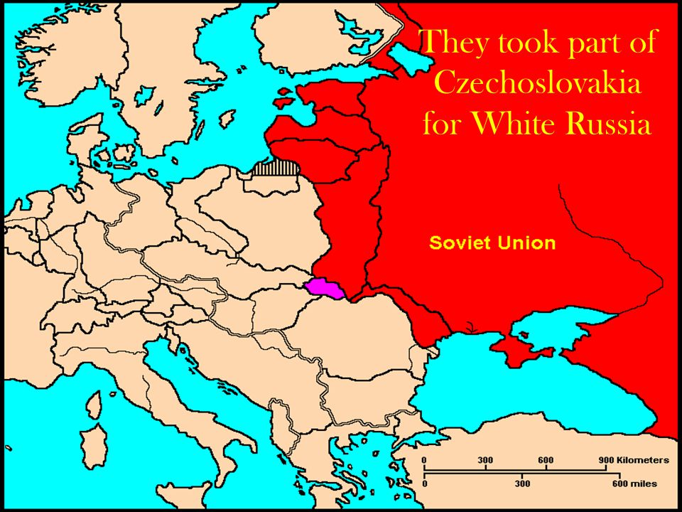 They took part of Czechoslovakia for White Russia