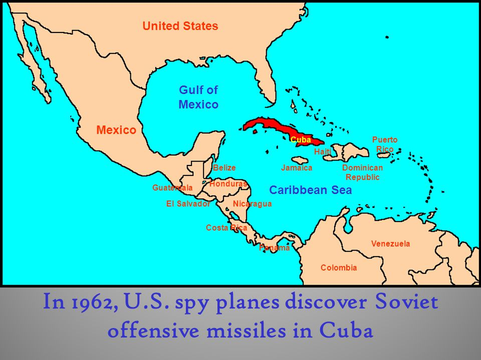 In 1962, U.S. spy planes discover Soviet offensive missiles in Cuba