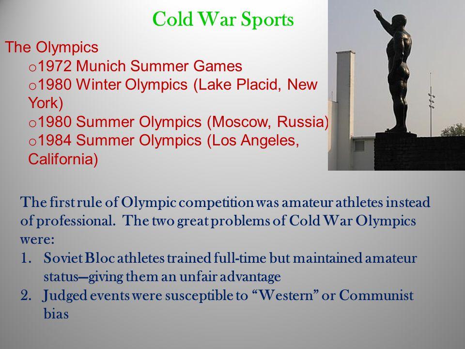 Cold War Sports The Olympics 1972 Munich Summer Games