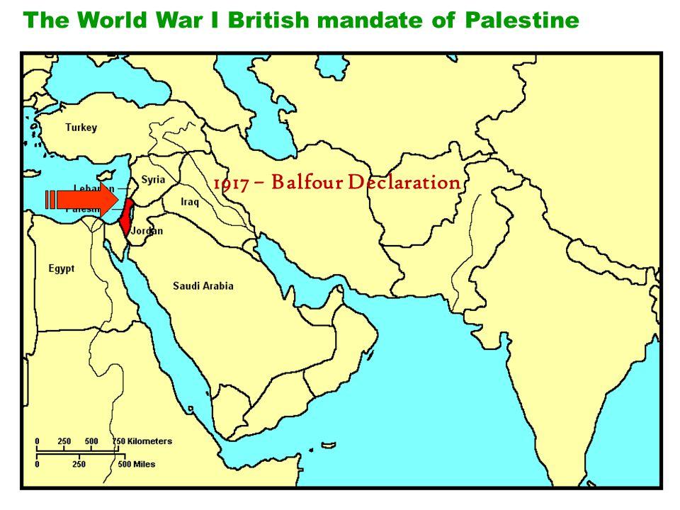 The World War I British mandate of Palestine