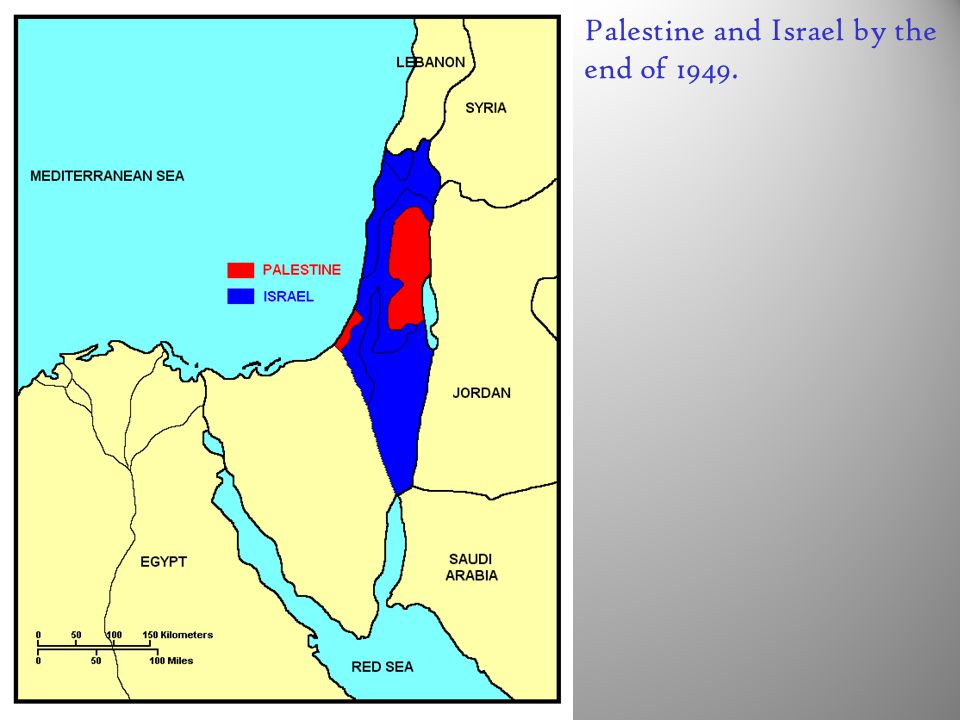 Palestine and Israel by the end of 1949.