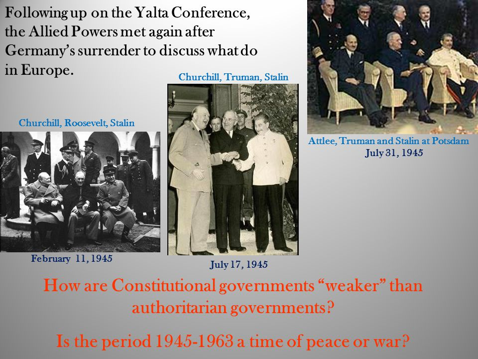 Is the period 1945-1963 a time of peace or war