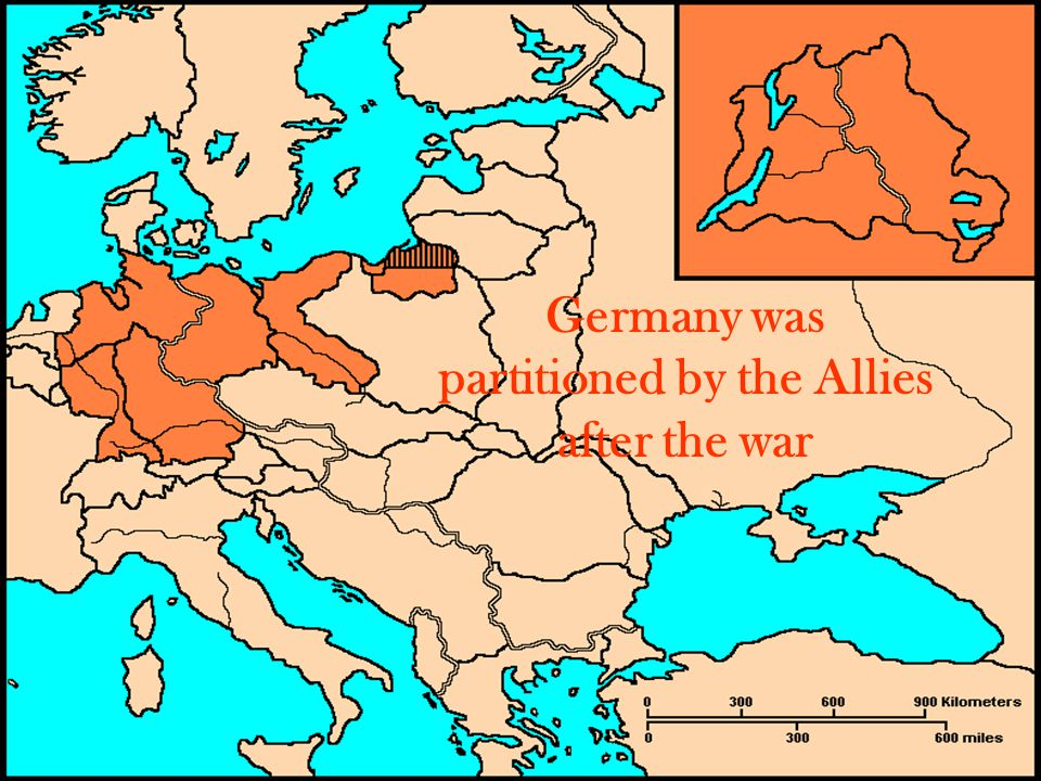 Germany was partitioned by the Allies after the war