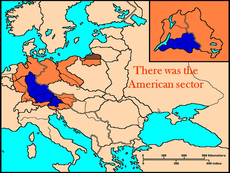 There was the American sector