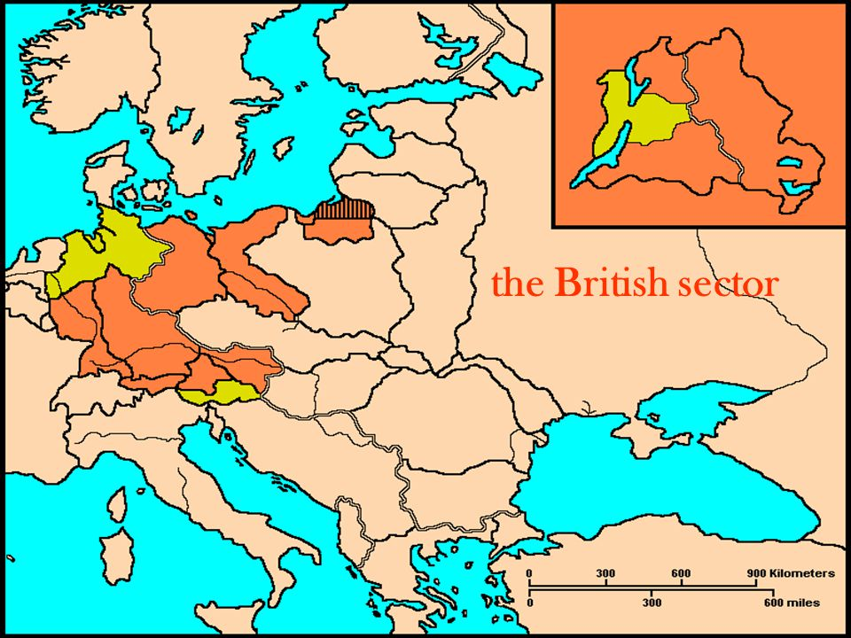the British sector
