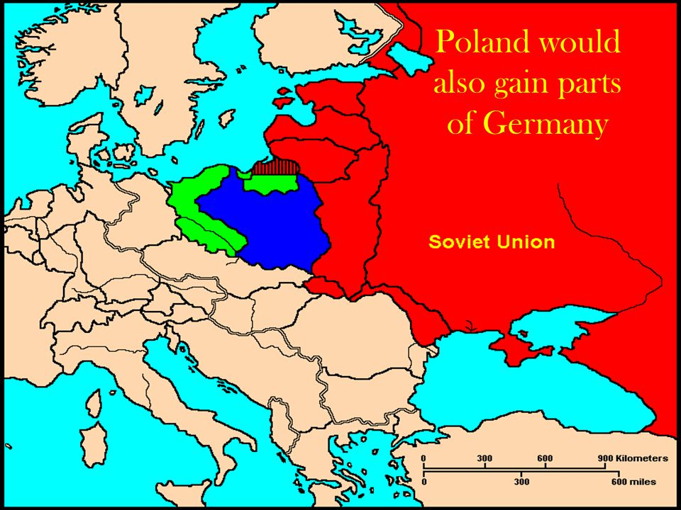 Poland would also gain parts of Germany