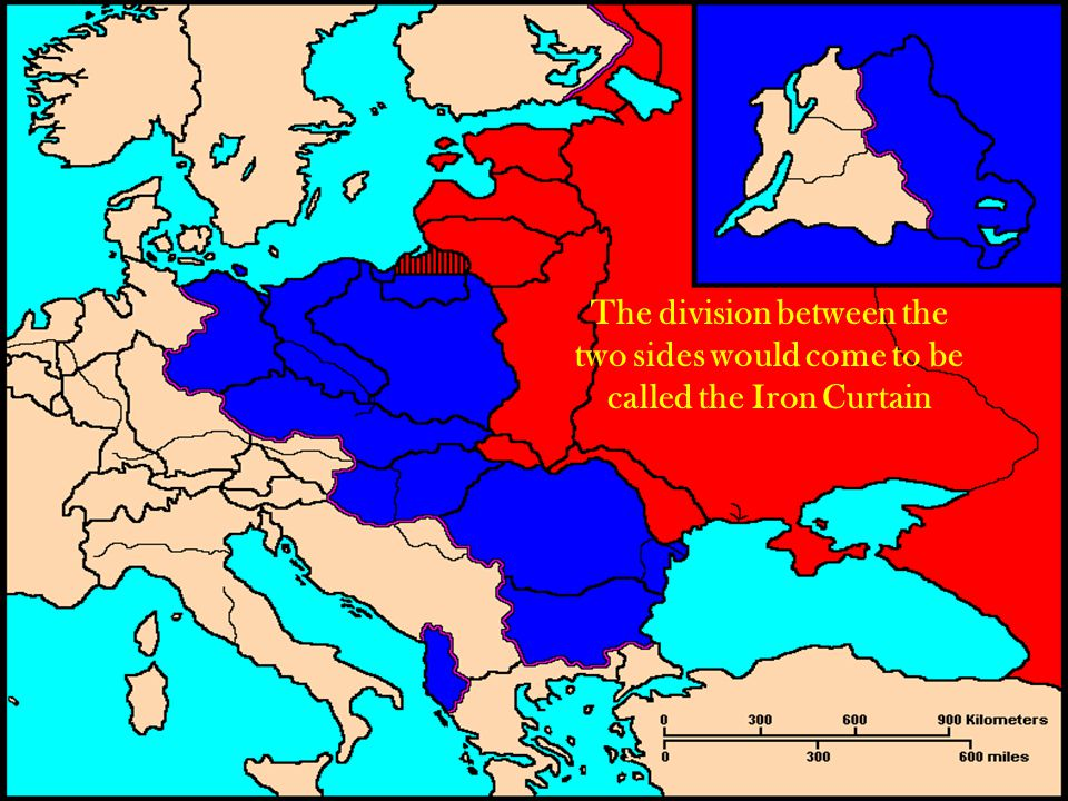 The division between the two sides would come to be called the Iron Curtain