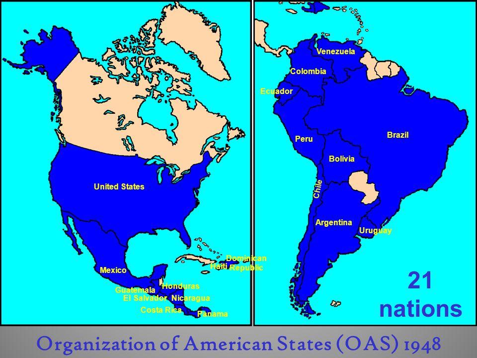 Organization of American States (OAS) 1948