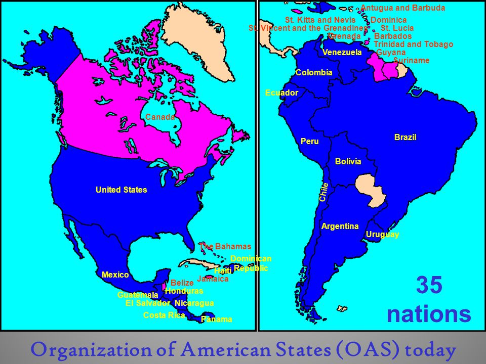 35 nations Organization of American States (OAS) today