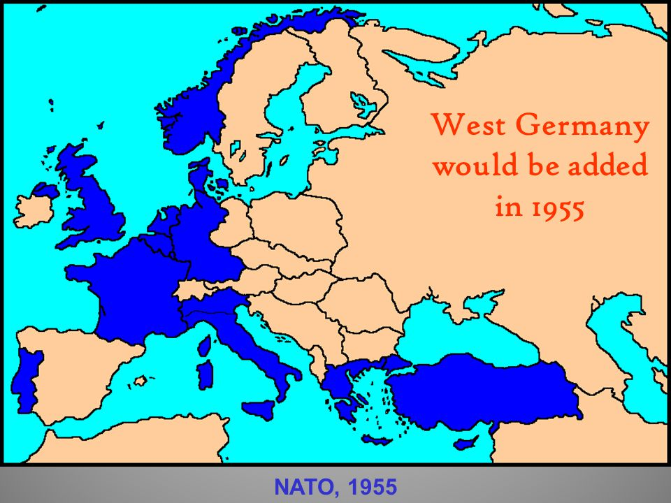 West Germany would be added in 1955