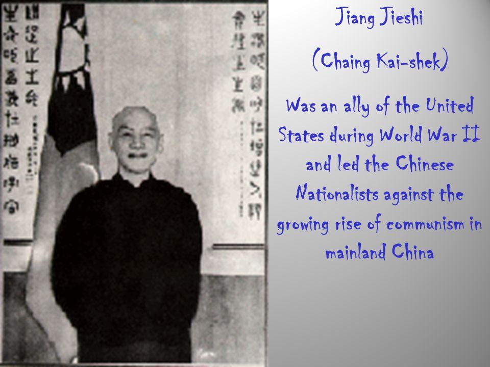 Jiang Jieshi (Chaing Kai-shek)