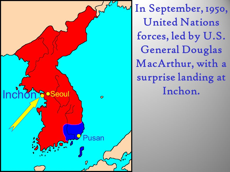 In September, 1950, United Nations forces, led by U. S