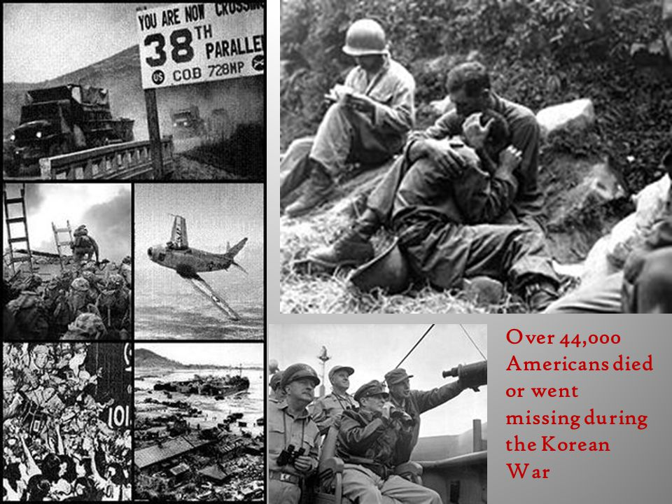 Over 44,000 Americans died or went missing during the Korean War