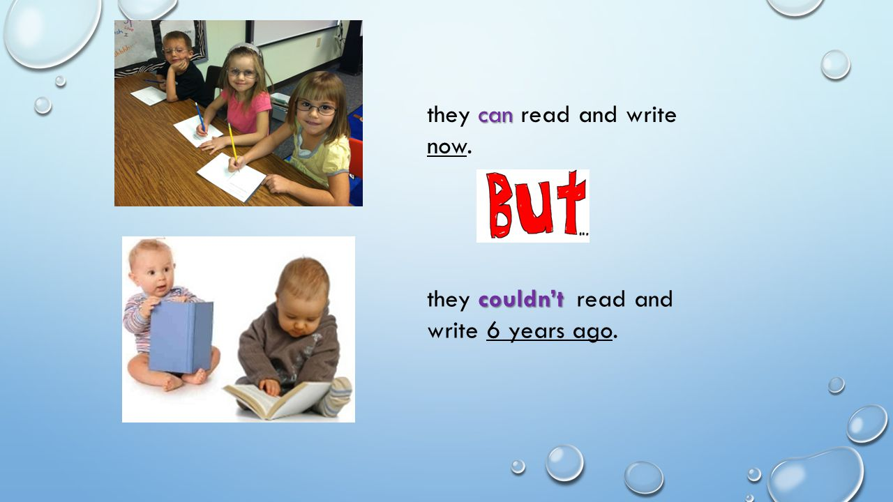 they can read and write now.