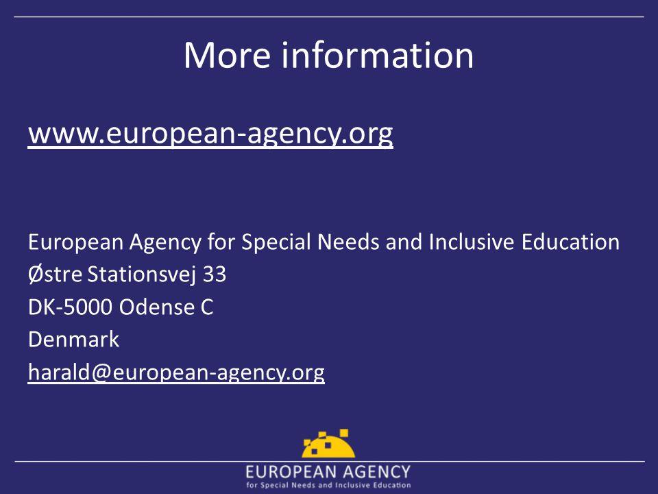 More information www.european-agency.org