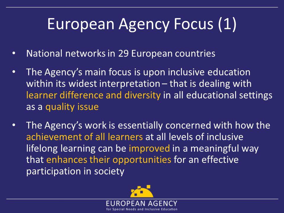 European Agency Focus (1)