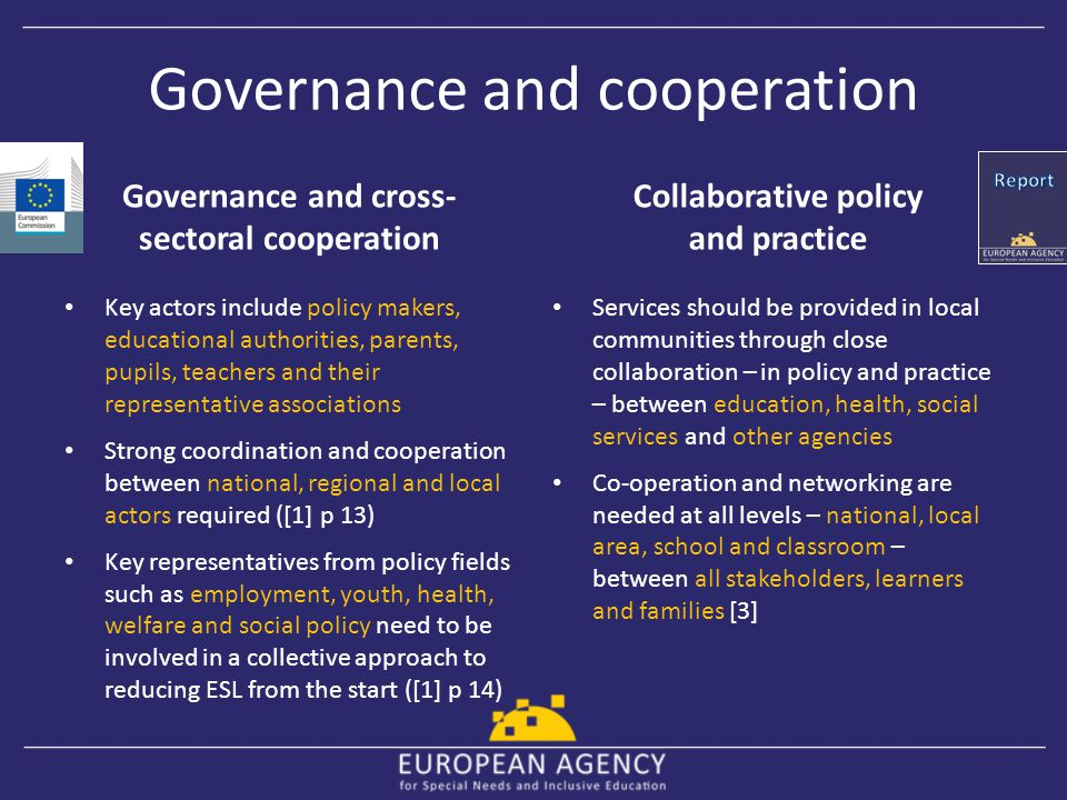 Governance and cooperation