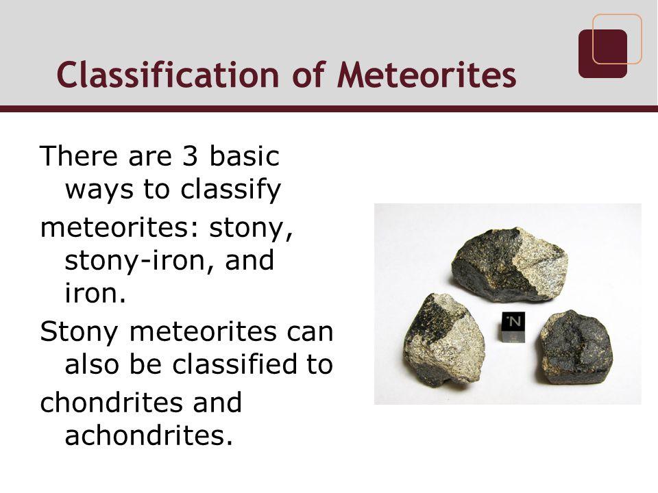 Classification of Meteorites