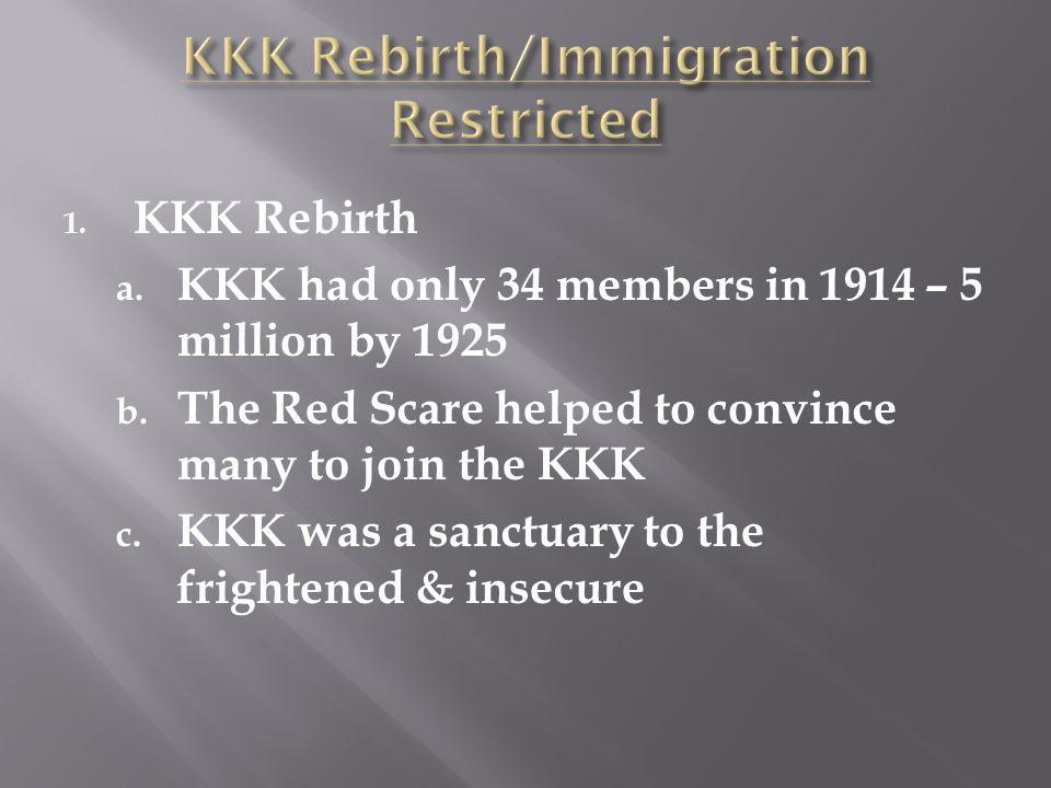 KKK Rebirth/Immigration Restricted