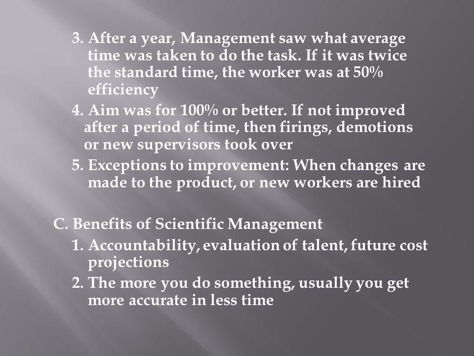 C. Benefits of Scientific Management