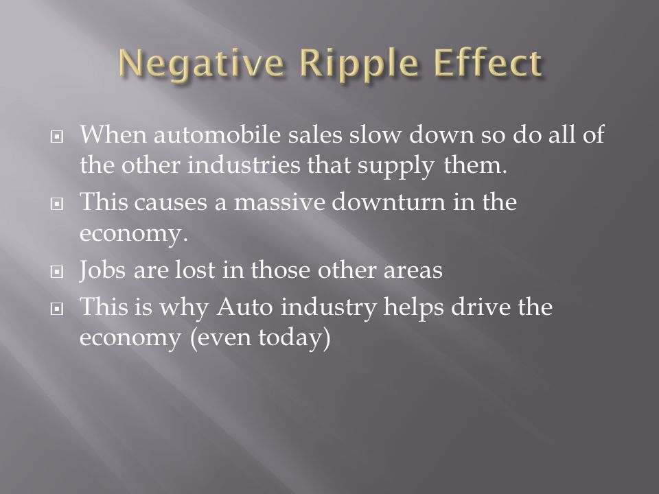 Negative Ripple Effect
