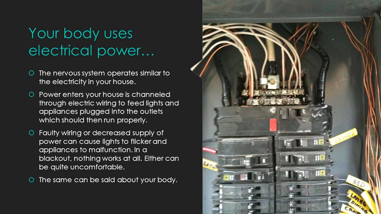 Your body uses electrical power…