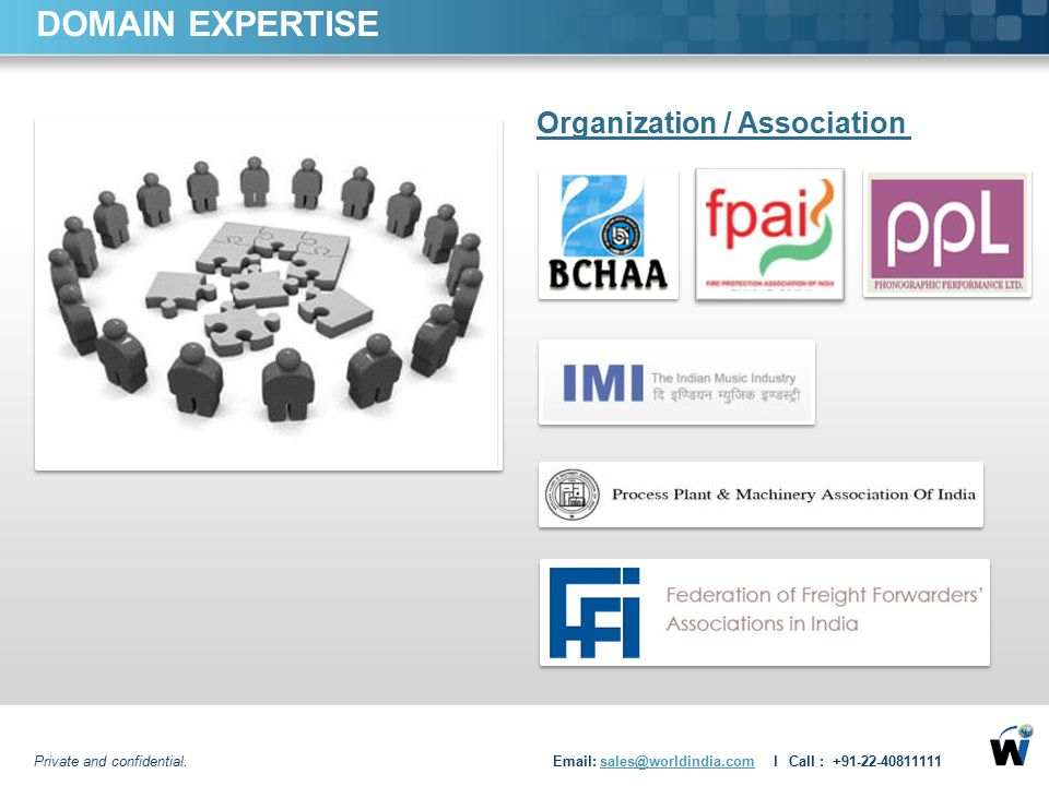 DOMAIN EXPERTISE Organization / Association
