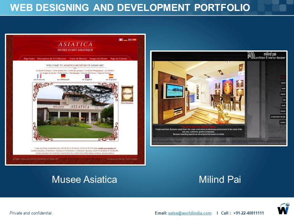 WEB DESIGNING AND DEVELOPMENT PORTFOLIO