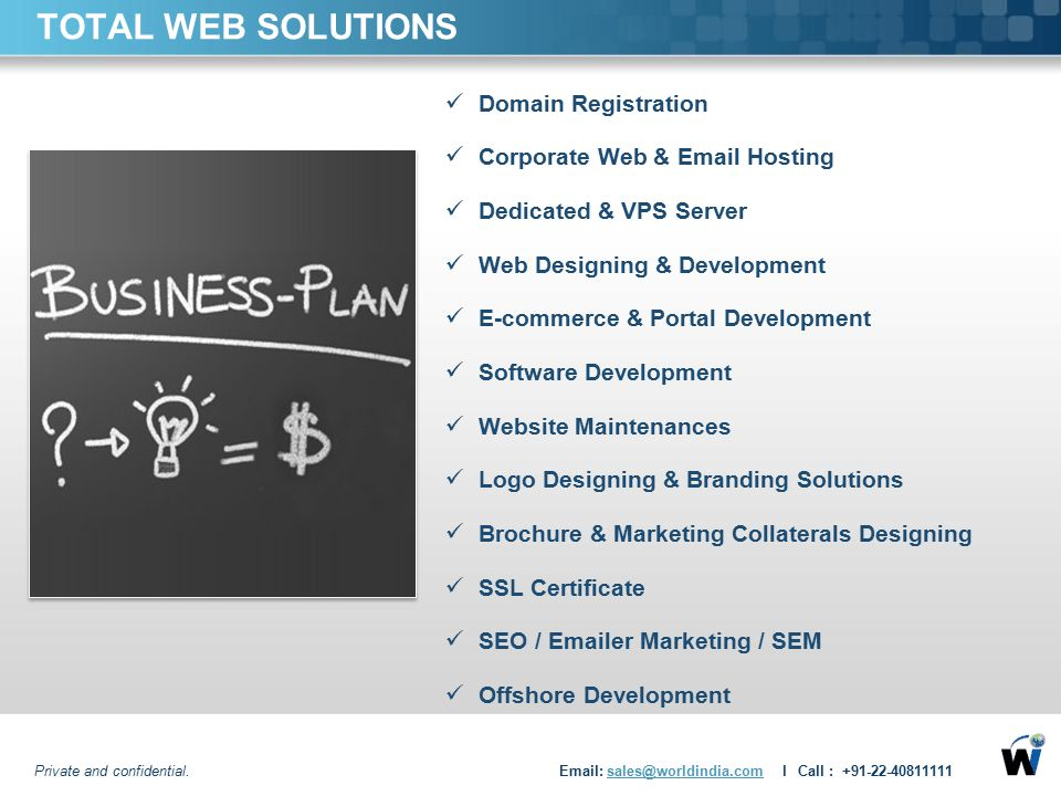 TOTAL WEB SOLUTIONS Domain Registration Corporate Web & Email Hosting