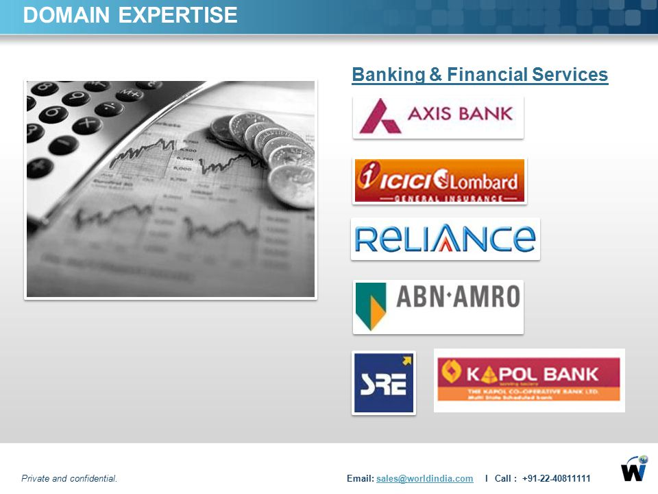 DOMAIN EXPERTISE Banking & Financial Services