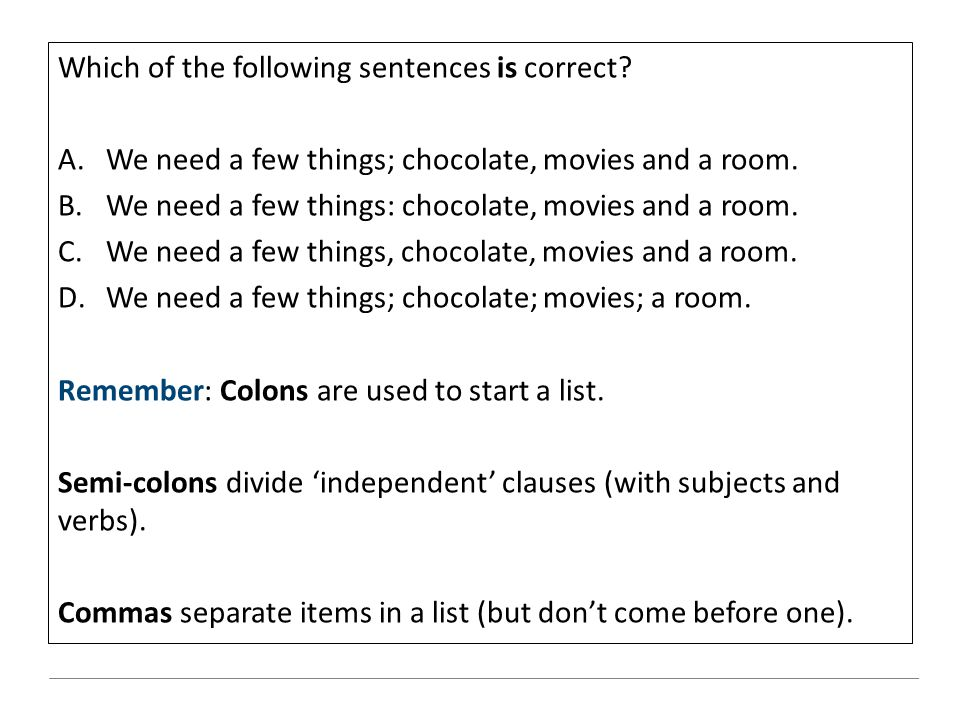 Which of the following sentences is correct