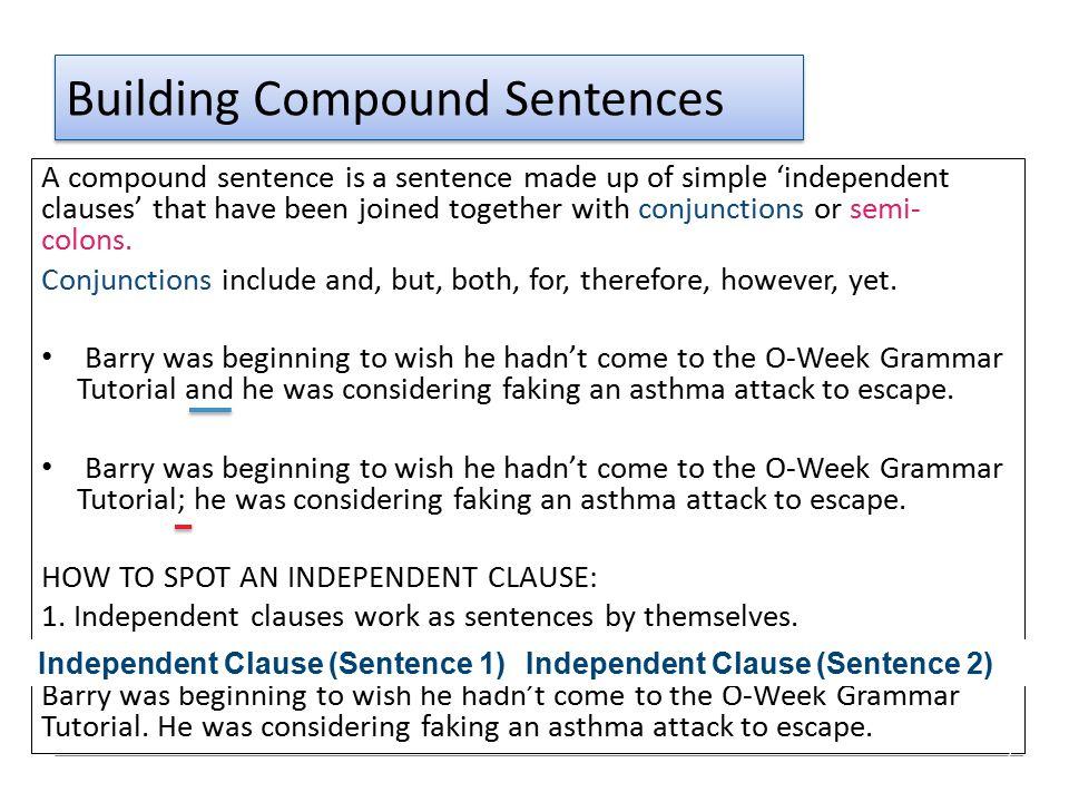Building Compound Sentences
