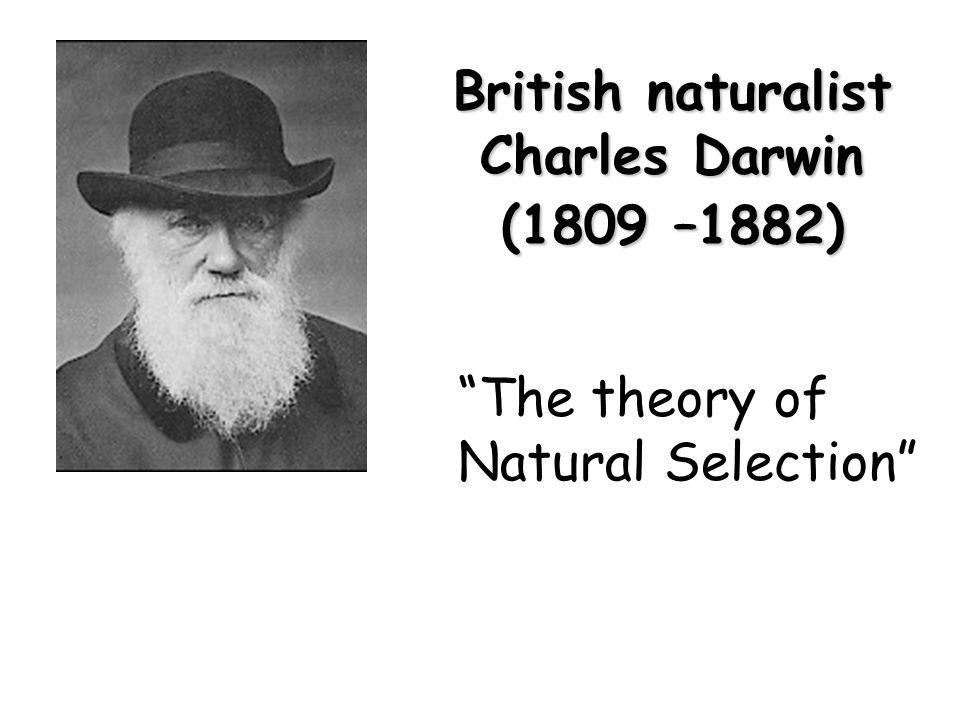 British naturalist Charles Darwin (1809 –1882)