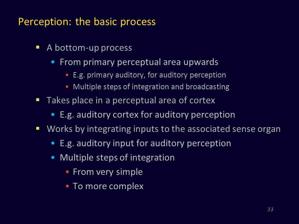 Perception: the basic process