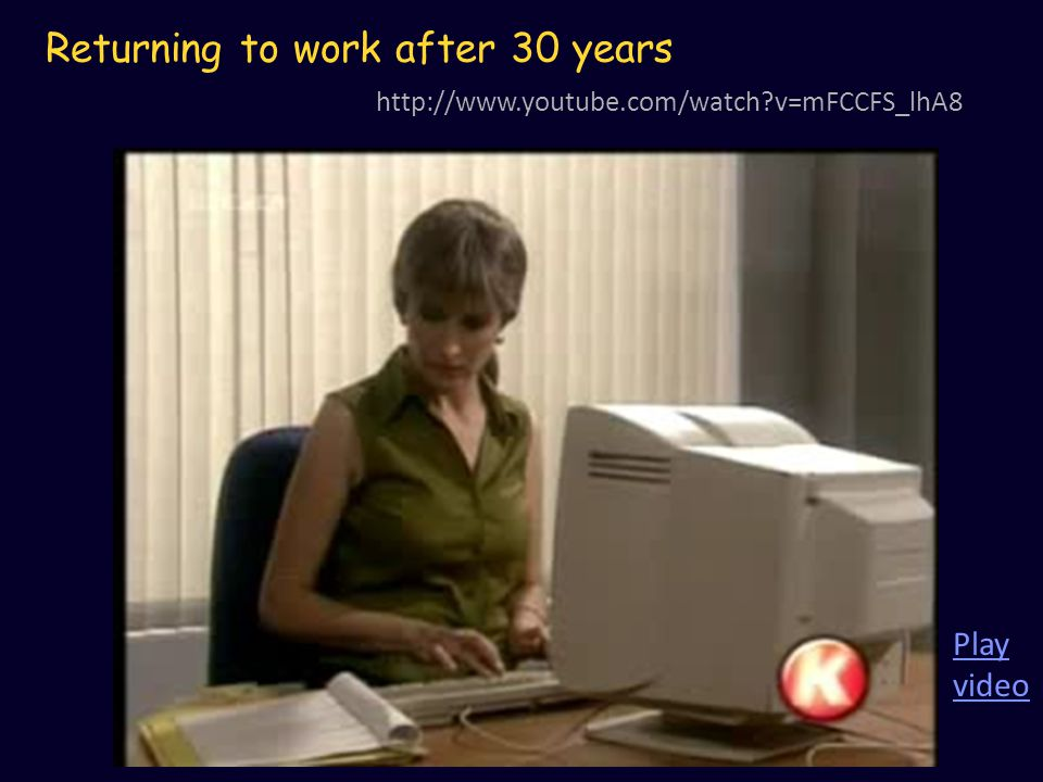 Returning to work after 30 years