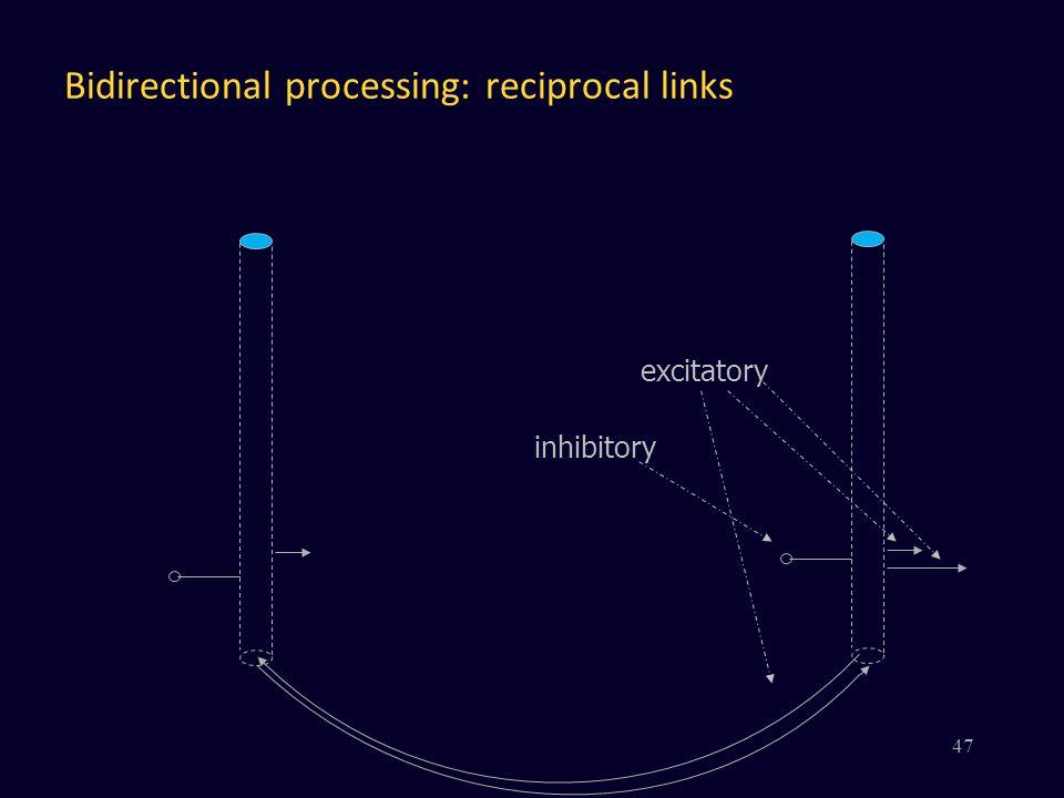 Bidirectional processing: reciprocal links