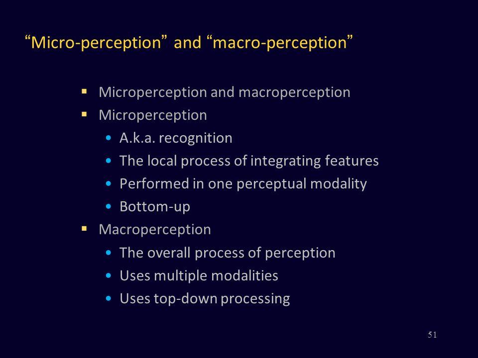 Micro-perception and macro-perception