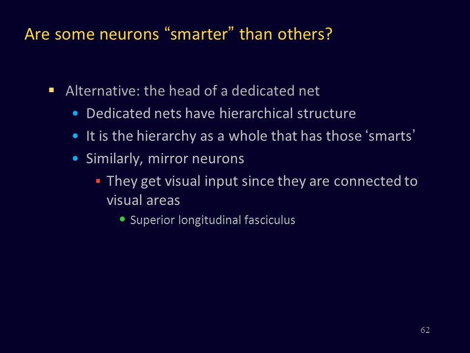 Are some neurons smarter than others