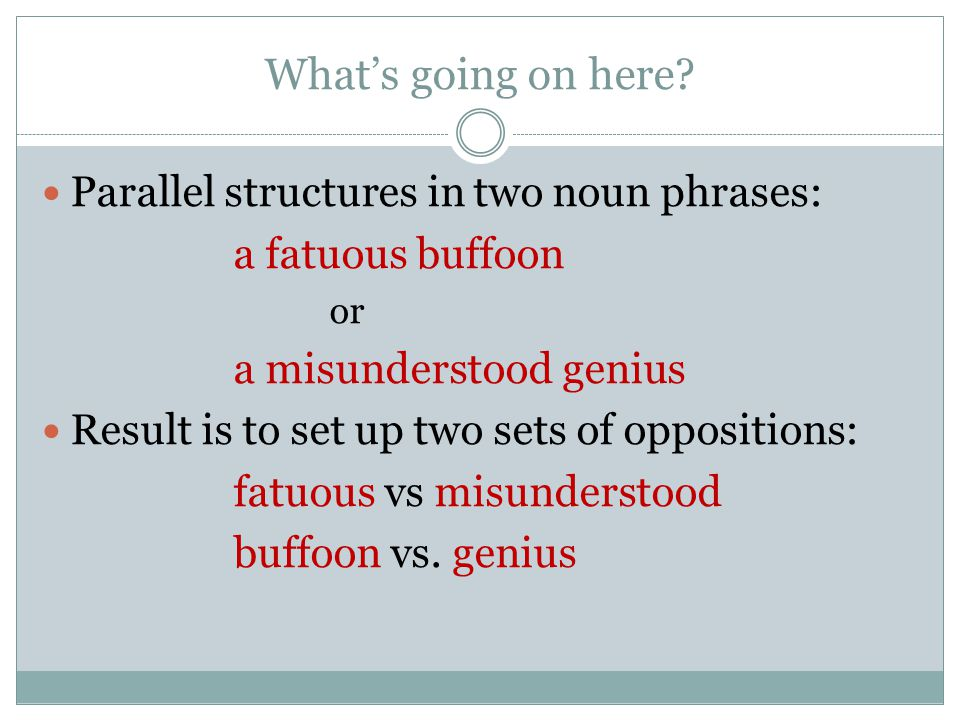 What's going on here Parallel structures in two noun phrases: