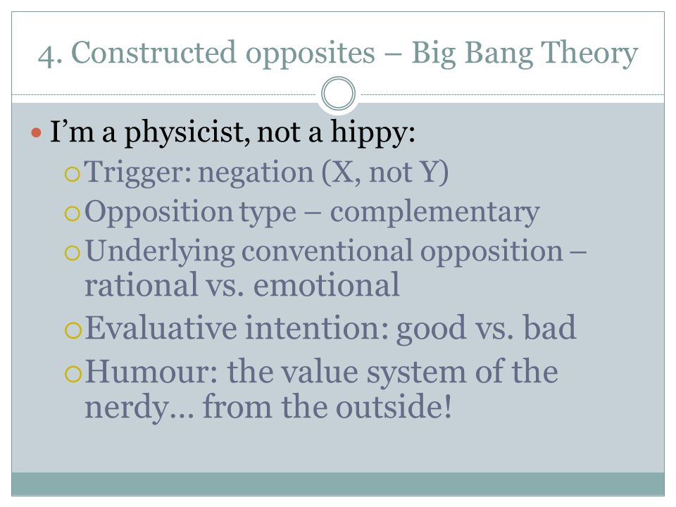 4. Constructed opposites – Big Bang Theory