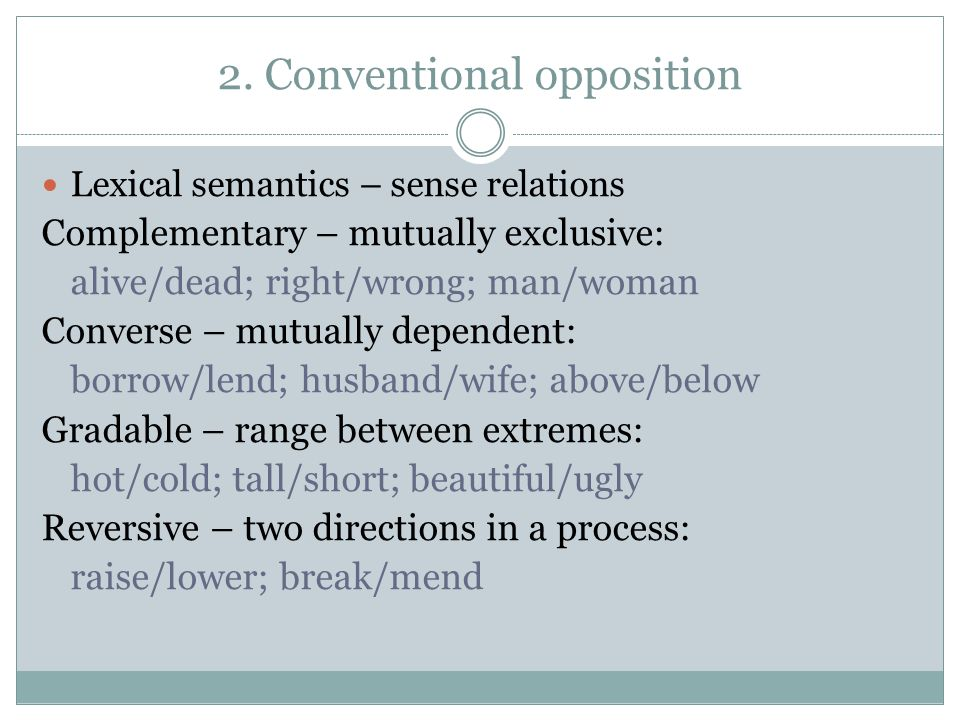 2. Conventional opposition