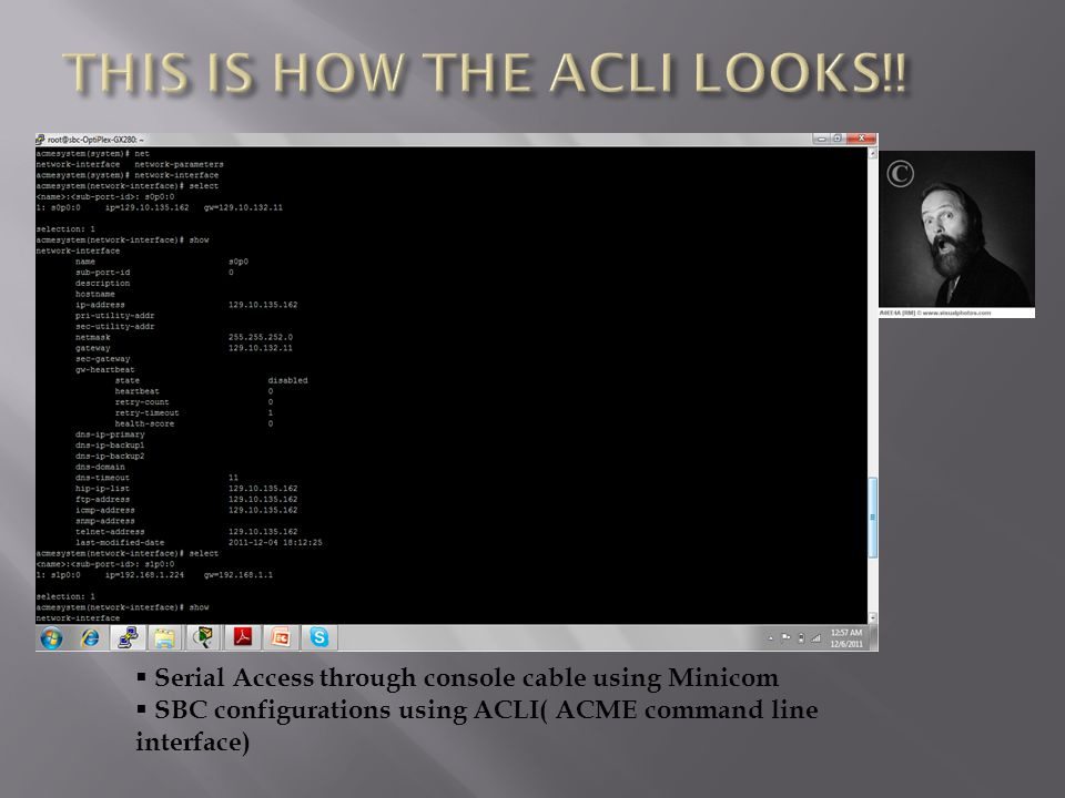 THIS IS HOW THE ACLI LOOKS!!